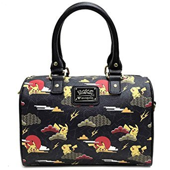 f698c9c02af9 Loungefly X Pokemon PIKACHU CLOUDS Duffle Bag in Black/Multi