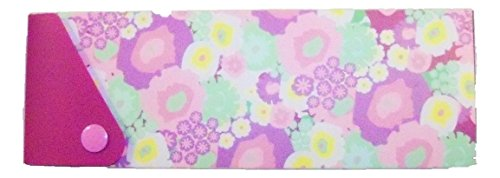 staples-sliding-pencil-box-with-snap-lock-flower-power-shades-of-purple-yellows-greens