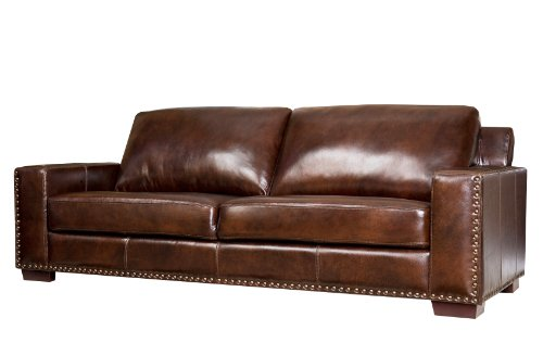 Abbyson Living Beverly Hand Rubbed Leather Sofa