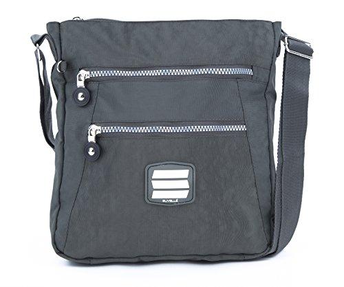 Suvelle Lightweight Go-Anywhere Travel Everyday Crossbody Bag Multi Pocket Shoulder Handbag 20103 by SUVELLÉ