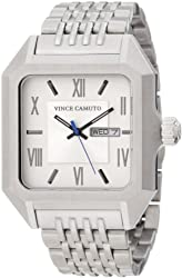 Vince Camuto Men's VC/1015SVSV The Aviator Silver-Tone Day Date Function Watch