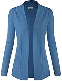 Women Classic Soft Long Sleeve Open Front Cardigan Sweater