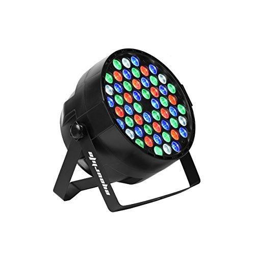 Eyourlife Stage Lights 54x3W LED RGBW Par Light DMX 512 Stage Lighting Uplighting for Wedding Party Church Concert Dance Floor Lighting for $<!--$37.99-->