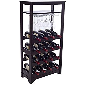 Merry Products 16-Bottle Wine Rack, Espresso