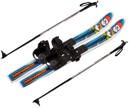 Snowman Children's Nordic Skis Waxless 70cm 2010 W. (4 Cross Country Ski Boots)