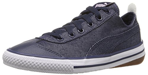 PUMA 917 Fun Denim Kids Sneaker (Little Kid/Big Kid), Peacoat/Lilac Snow/Patent/Lavender, 5.5 M US Big Kid by PUMA