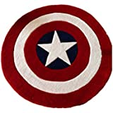 Luk Oil Round Rugs Captain America Shield Carpet Office Circular Mats Circular Living Room Bedroom Carpet (80cmX80cm)
