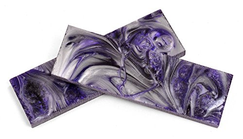 """Texas Knifemakers Supply Purple Passion Polypearl Scales - 5"""" x 1-1/2 x 3/8 (Pair of 2)"""