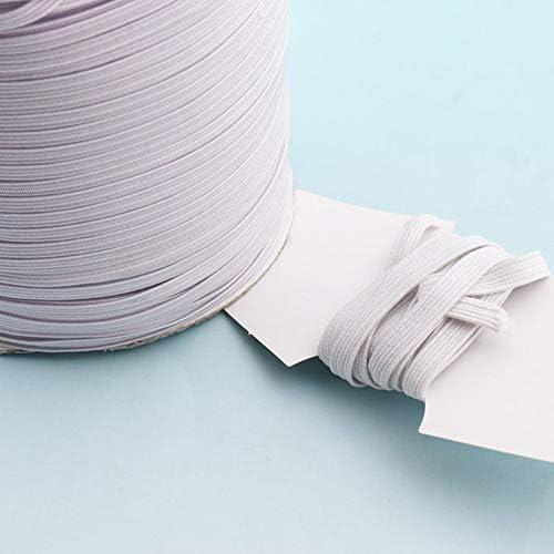 Wire Cordon Elastic Fabric Nylon 3mm White Ews 90 metres env