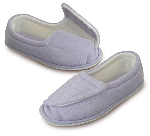 womens-clinic-comfort-terry-cloth-slippers-lilac-x-large