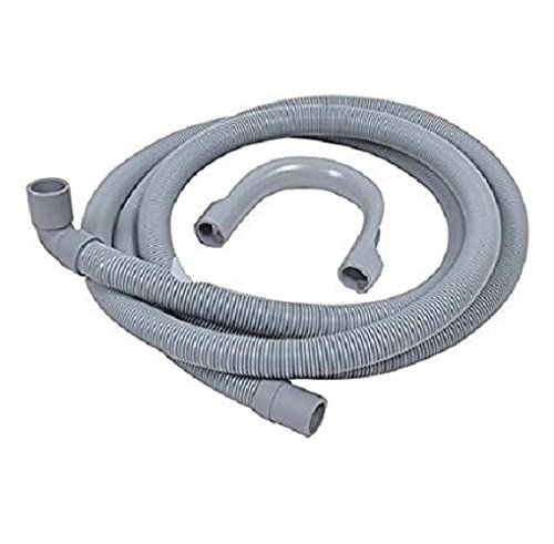 FindASpare Washing Machine & Dishwasher Drain Hose 2.5Metre 90DEG 19/22mm FASQUADWH46