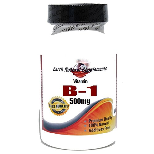 B-1 Vitamin 500mg * 200 Capsules 100 % Natural - by EarhNaturalSupplements by Premium