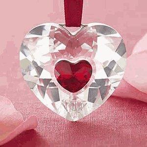 Amazon.com: Swarovski Annual Edition 2004 Heart Ornament ...