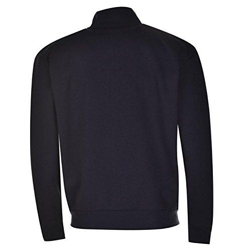 cremallera chaqueta Top larga con Slazenger de para completa manga hombre azul marino Casual algodón qaEddfw