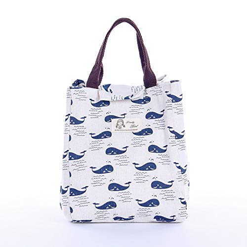 Cartoon Pattern Bag Cooler Bag Bento Picnic Pouch Lunch Container Mama's Bag (Container Pattern)