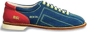 Amazon.com: BSI Mens Cosmic Suede Rental Bowling Shoes- Laces ...