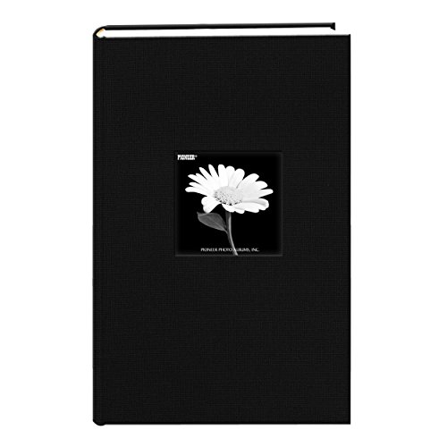 Le Memo Album - Fabric Frame Cover Photo Album 300 Pockets Hold 4x6 Photos, Deep Black