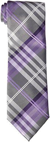 (Geoffrey Beene Men's Petros Plaid II Tie, Purple, One Size)