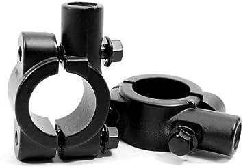 "Universal Black Motorcycle Handlebar Mirror Mount 10mm 7//8/"" Aluminum Clamp CJCC"