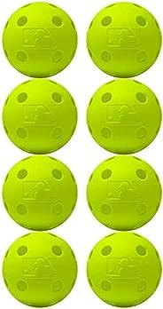 Franklin Sports MLB Indestruct-A-Balls Performance Training Balls, 8 Pack, Yellow
