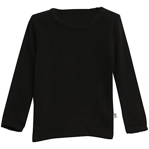 Wheat Baby-Mädchen Basic Langarmshirt, Schwarz (Black 78), 62 (Herstellergröße: 3m)