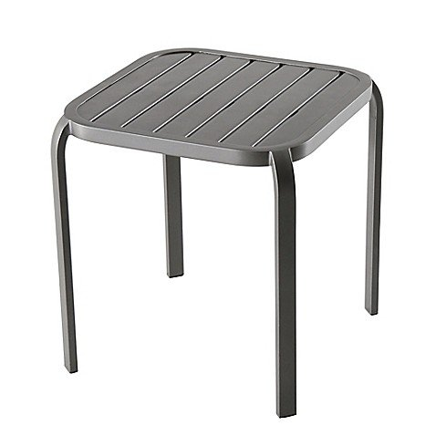Barrington Modern Square Stacking Accent Table in Slate