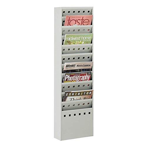 Safco Home Office Furniture 11-Pocket Steel Magazine Rack Gray 10