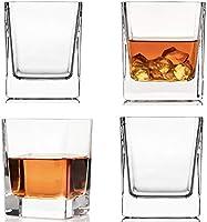 Etched Globe Spinning & Rocking World - Juego de dos vasos de whisky (300 ml)