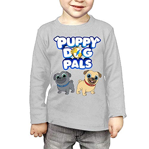 Ssuac Yi66 Puppy Dog Lovely Pals Kids Perfect Long Sleeve Cotton T-Shirt Gray 4 Toddler