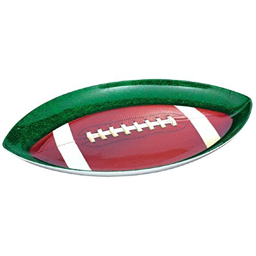 Football Shaped Plastic Party Platter]()