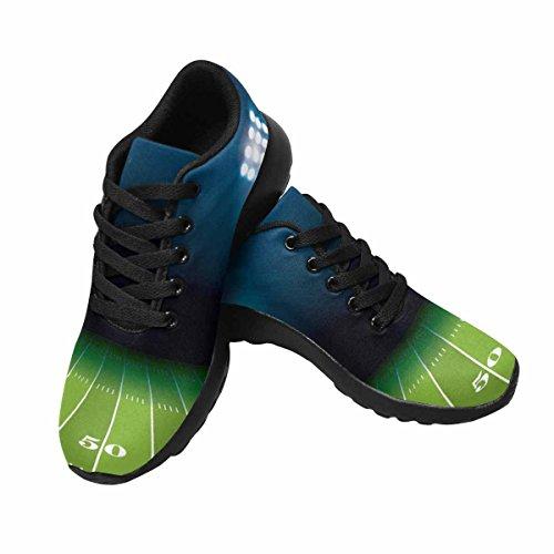 D-histoire Jogging Running Sneaker Football Américain Champ Femmes Confort Décontracté Sport Marche Chaussures De Course Noir