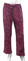Aegean Apparel Women's Leopard/Animal Print Plush Pant in Fuchsia/Black