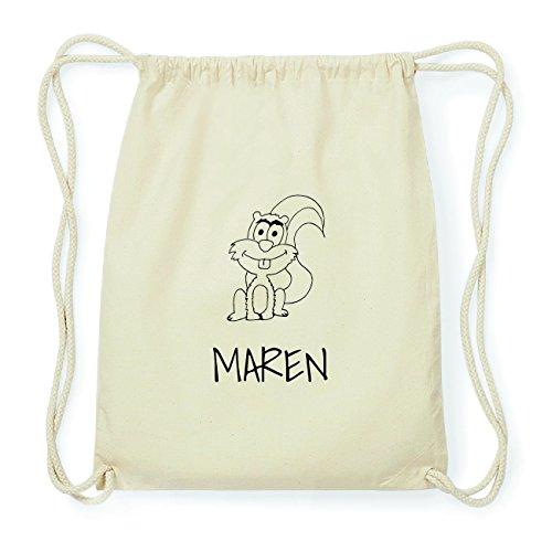 JOllipets MAREN Hipster Turnbeutel Tasche Rucksack aus Baumwolle Design: Eichhörnchen gkwlUEzNi