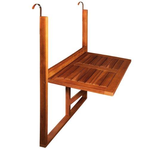 Table de balcon en bois rabattable suspendue balcon terrasse 64 x 45 x 87 cm amazon fr jardin