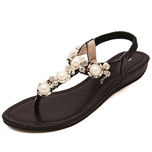 663bea93d2e Meeshine Womens T-Strap Open Toe Sparkle Flip-Flops Summer Dress Flat  Sandals Shoes - Buy Online in Oman.