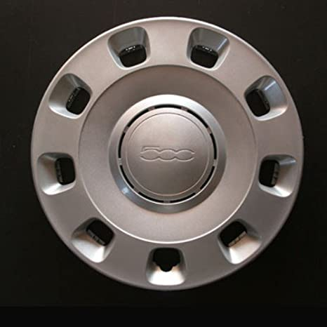 Set of 4 new wheel trims for Fiat 500 with original rims in 14 inches: Amazon.co.uk: Car & Motorbike