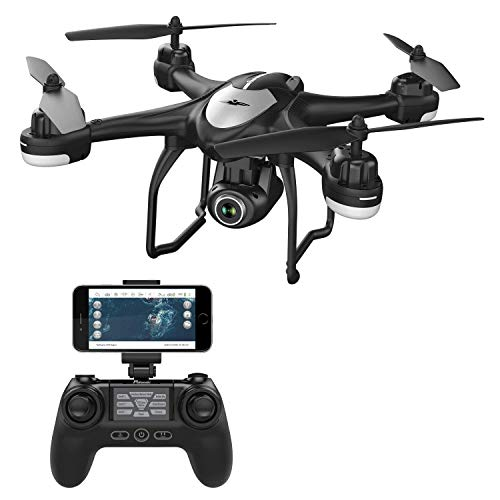 Potensic T18 GPS Drone, FPV RC Quadcotper with Camera 1080P Live Video, Dual GPS Return Home, Follow Me, Adjustable Wide-Angle Camera, Altitude Hold, Long Control Range -Black (Automatic Call Recorder For Android 4-1 2)