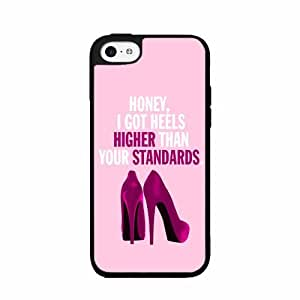 Honey I Got Heels Higher Than Your Standards- TPU RUBBER SILICONE Phone Case Back Cover iPhone 5 5s comes with Security Tag and MyPhone Designs(TM) Cleaning Cloth
