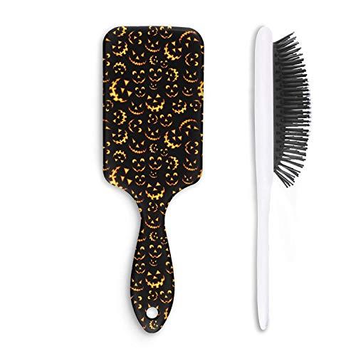 Unisex Detangle Hair Brush Halloween-terror pumpkin Boar Bristle Paddle Hairbrush for Wet, Dry, Thick, Thin,Curly -