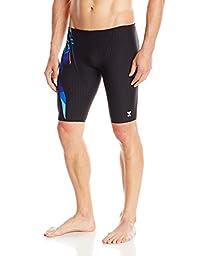 TYR Men\'s Bravos All Over Jammer Swimsuit, Multi Color, 32