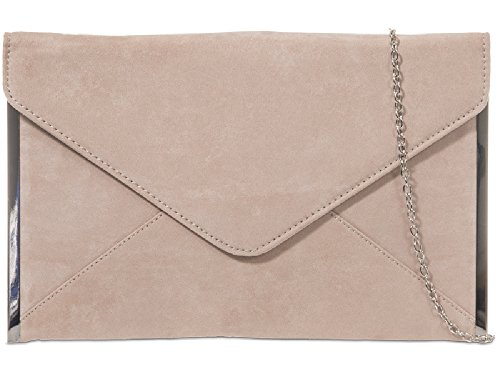 Handbag K50292 Nude Evening Ladies Women's Envelope Clutch Party Purse Suede Bag Bag Bag x70PAq