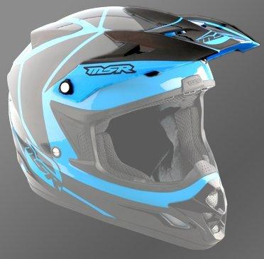 MSR Helmets 359299 M13 VELOCITY VISOR BLU