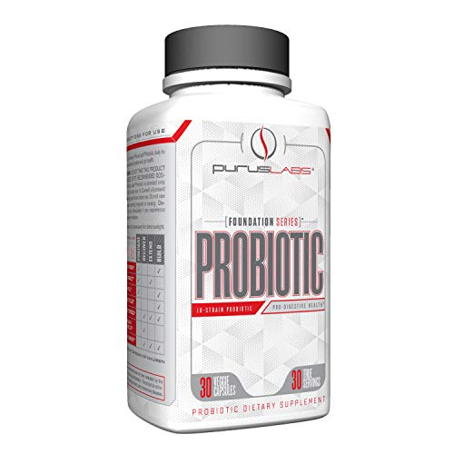 Purus Labs Probiotic | 50 Billion CFU, 10 Poten Strains | Improve Digestion, Strengthen Immune System, Aid in Weight Loss | Live Bacteria (30 Servings, 60 Veggies Capsules)