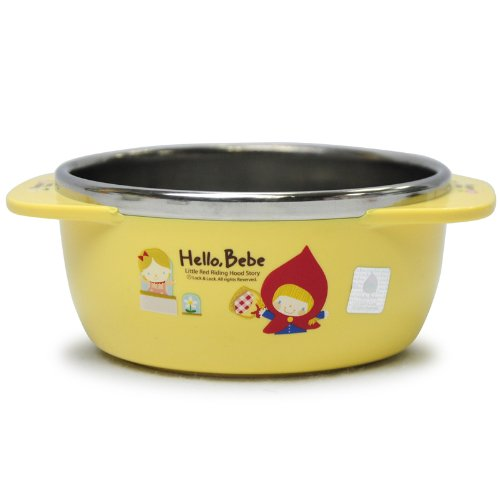 Lock&Lock Hello Bebe Storytelling Educational Design Baby Feeding Stainless Bowl with Handle, Small