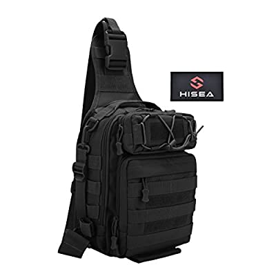 Hisea Military Tactical Sling Bag Small Assault Pack Army Molle Bug Out Bag Backpack