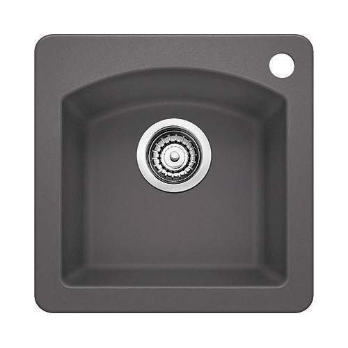 Blanco 441477 Silgranit II Diamond Bar Sink, Cinder by Blanco by Blanco