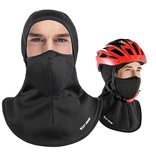 Windproof Balaclava Ski Mask, Full Face Mask Cap Men Women, Wind-Resistant Hat Warm, Winter Thermal Fleece Face Head Hood, Fit Helmet Hat Skiing, Cycling, Motorcycle, Outdoor Sports - Adult Universal