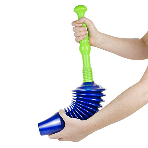 Luigi's - The Worlds Best Toilet Plunger : Big, Bad, Powerful Unblocker. Clears all blockages due to powerful air hole