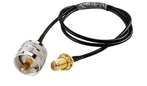 Amazon.com: R58-SMAF-UHF-20in- RF Cable coaxial SMA hembra a UHF PL259 masculino RG58 coaxial con el PL-259: Electronics