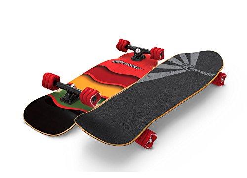 l Rasta Cruiser Longboard Skateboard Complete, Red ()